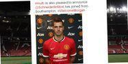 Manchester United a officialisé lundi la signature du milieu de terrain français. Capture d'écran @ManUtd