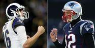 Jared Goff et Tom Brady (1280x640) Jonathan Bachman, Adam Glanzman / GETTY IMAGES NORTH AMERICA / AFP