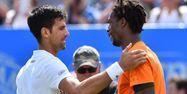 Novak Djokovic et Gaël Monfils (1280x640) Glyn KIRK / AFP