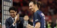 Nasser Al-Khelaïfi avec Zlatan Ibrahimovic (1280x640) Kenzo TRIBOUILLARD/AFP