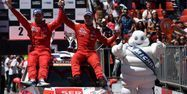 L'équipage Citroën Gilbert (à dr.)- Jamoul a été sacré champion du monde junior WRC. (1280x640) Francisco LEONG/AFP