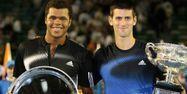 Tsonga et Djokovic lors de la finale de l'Open d'Australie 2008 (1280x640) TORSTEN BLACKWOOD / AFP