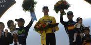 Froome sur le podium (1280x640) Jeff PACHOUD/AFP