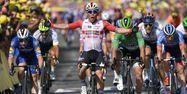 Caleb Ewan vainqueur à Nîmes (1280x640) Marco Bertorello / AFP