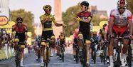 Caleb Ewan et Geraint Thomas sur les Champs (1280x640) Anne-Christine POUJOULAT / AFP