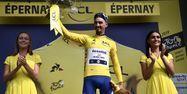 Julian Alaphilippe sur le podium du Tour de France 2019 (1280x640) Marco Bertorello / AFP