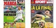 Les Unes des quotidiens sportifs espagnols du 13 mai (1280x640) Montage Marca/Sport