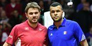 Wawrinka face à Tsonga en finale de la Coupe Davis (1280x640) Philippe HUGUEN/AFP