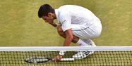 Djokovic sur le Court n°1 de Wimbledon (1280x640) Leon NEAL/AFP