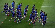 Equipe de France de rugby à l'entraînement (1280x640) Adrian DENNIS/AFP