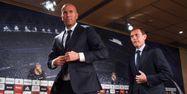 Zidane avec Butragueno (1280x640) Pedro ARMESTRE/AFP