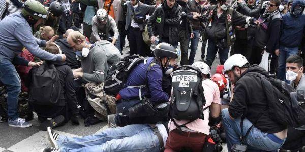 14.06.Manifestation Loi Travail OParis blesse.DOMINIQUE FAGET  AFP.1280.640