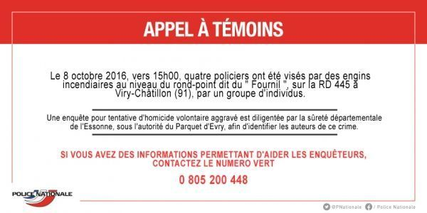 20161010 Appel à témoins - Viry-Châtillon