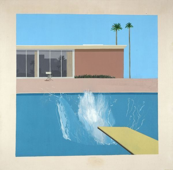5David Hockney A Bigger Splash 1967 Acrylique sur toile © David Hockney Collection Tate, London (