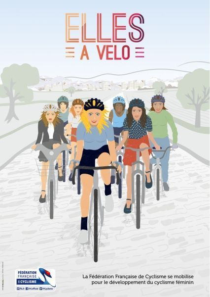 Affiche femmes vélo