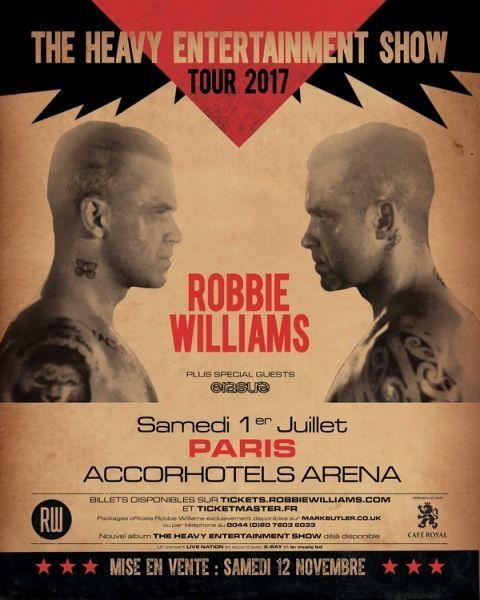 Affiche Robbie Williams - 600x749