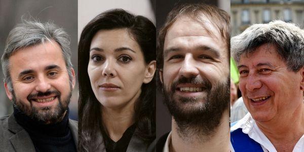 Alexis Corbière, Sophia Chikirou, Manuel Bompard et Eric Coquerel, quatre fidèles de Jean-Luc Mélenchon.