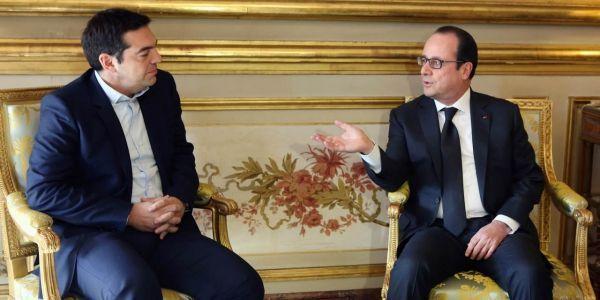 Alexis Tsipras, premier ministre grec, et François Hollande