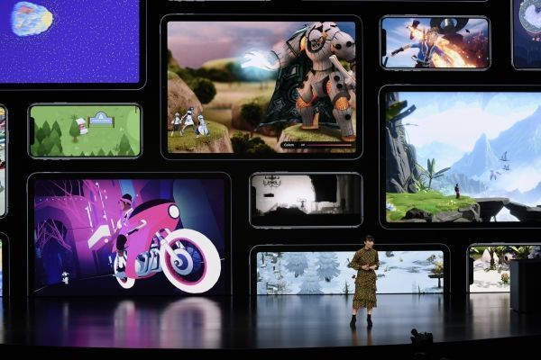 Apple Arcade proposera plus de 100 jeux exclusifs. Michael Short / GETTY IMAGES NORTH AMERICA / AFP