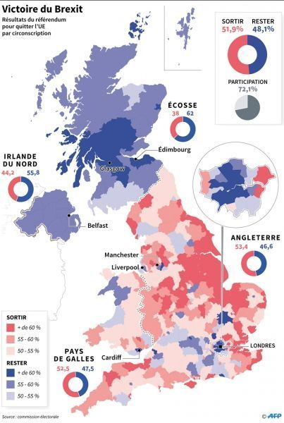 Carte Brexit infographie