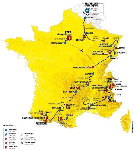 Carte du Tour 2019