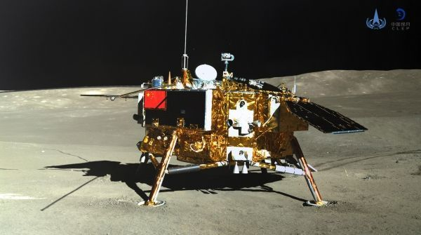 Le module Chang'e 4 doit recueillir des échantillons du sol lunaire. China National Space Administration (CNSA) via CNS / AFP