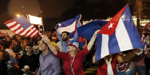 cubains Miami, mort de fidel castro crédit : AFP