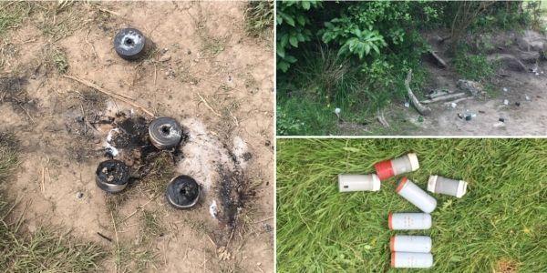Des débris de grenades sur le site de la ZAD de Notre-Dame-des-Landes, mardi. Crédit photo : François Coulon/Europe 1