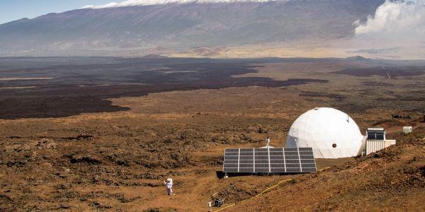 Dôme à Hawaï, mission mars, Cryprien Verseux Crédit : NEIL SCHEIBELHUT / UNIVERSITY OF HAWAII AT MANOA / AFP