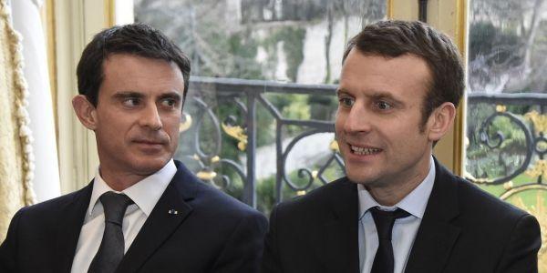 DOMINIQUE FAGET / AFP valls macron