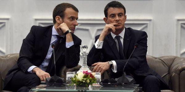 Emmanuel Macron et Manuel Valls, 1280x640