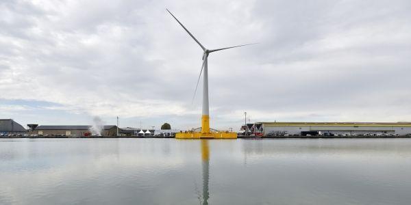 La première éolienne française a été inaugurée en octobre à Saint-Nazaire. © LOIC VENANCE / AFP