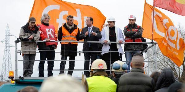 François Hollande à Florange en 2012