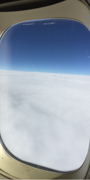 Hublot nuages 747