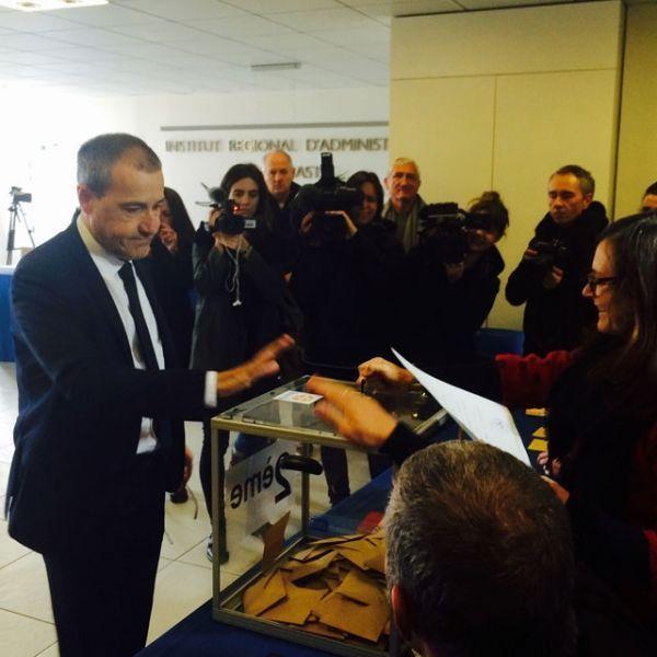 Le nationaliste Jean-Guy Talamoni, de la coalition Pé a Corsica.