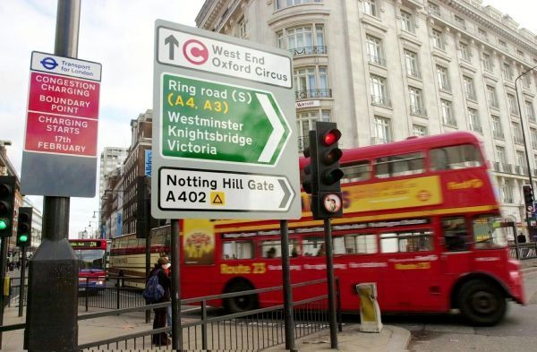 Londres, congestion charge, péage crédit : NICOLAS ASFOURI / AFP