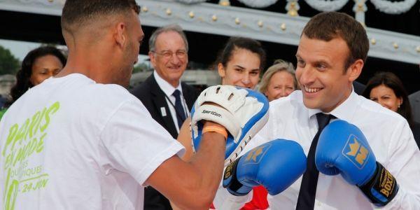 Macron-Boxe