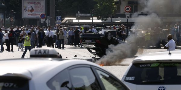 Manif taxis juin 2015