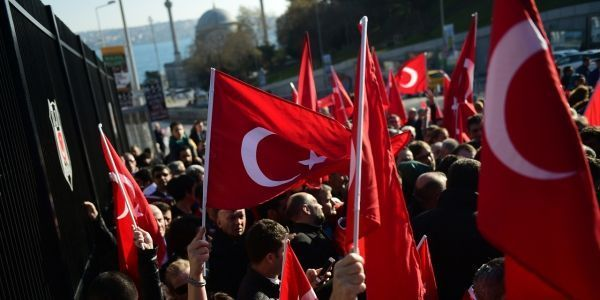 manifestation, attentat turquie crédit :YASIN AKGUL / AFP