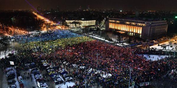 Manifestation Bucarest 12 février 2017