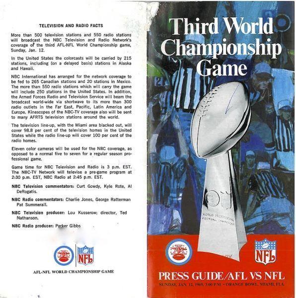 Media Guide du Super Bowl III