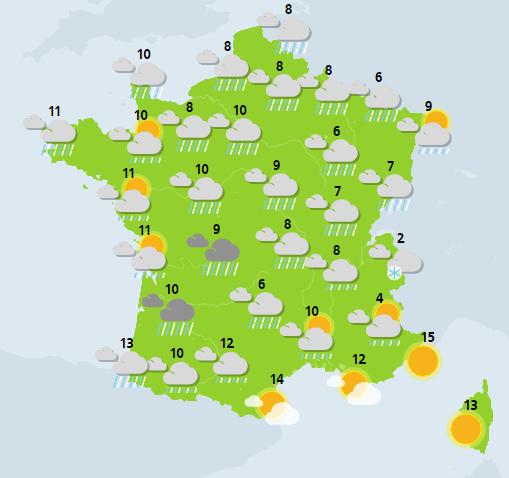 météo 1er janvier 2018 crédit : Météo France