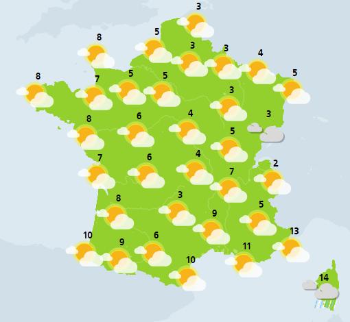 météo du 12 décembre crédit : Météo France