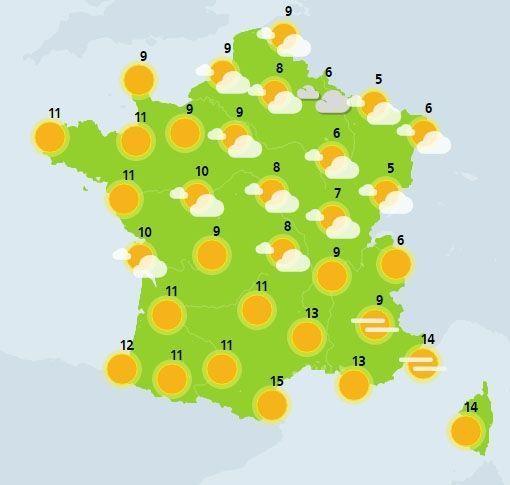 météo du 12 février crédit : Météo France