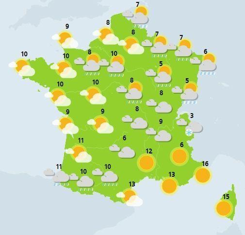 météo du 14 janvier crédit : Météo France