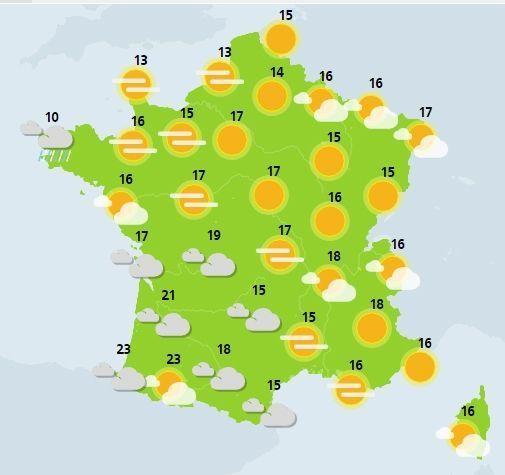 météo du 15 avril crédit : Météo France