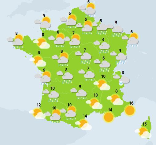 météo du 19 janvier crédit : Météo France