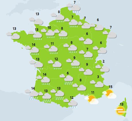météo du 2 janvier crédit : Météo France
