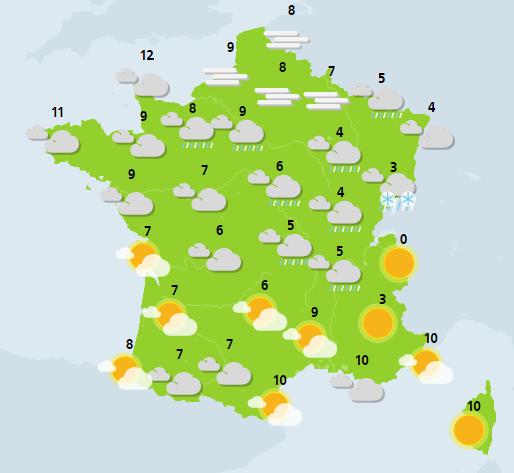 météo du 20 décembre crédit : Météo France