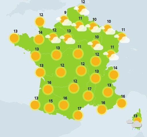 météo du 26 mars crédit : Météo France